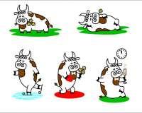 Разработка рисованного персонажа года быка